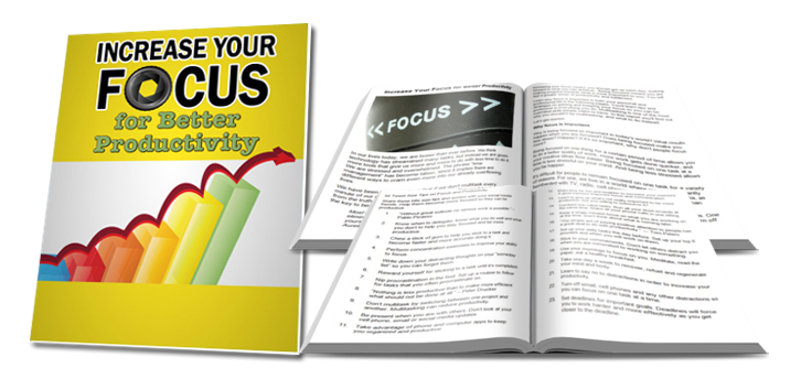 Focus for Productivity Done-for-You Content Package - It's Free!