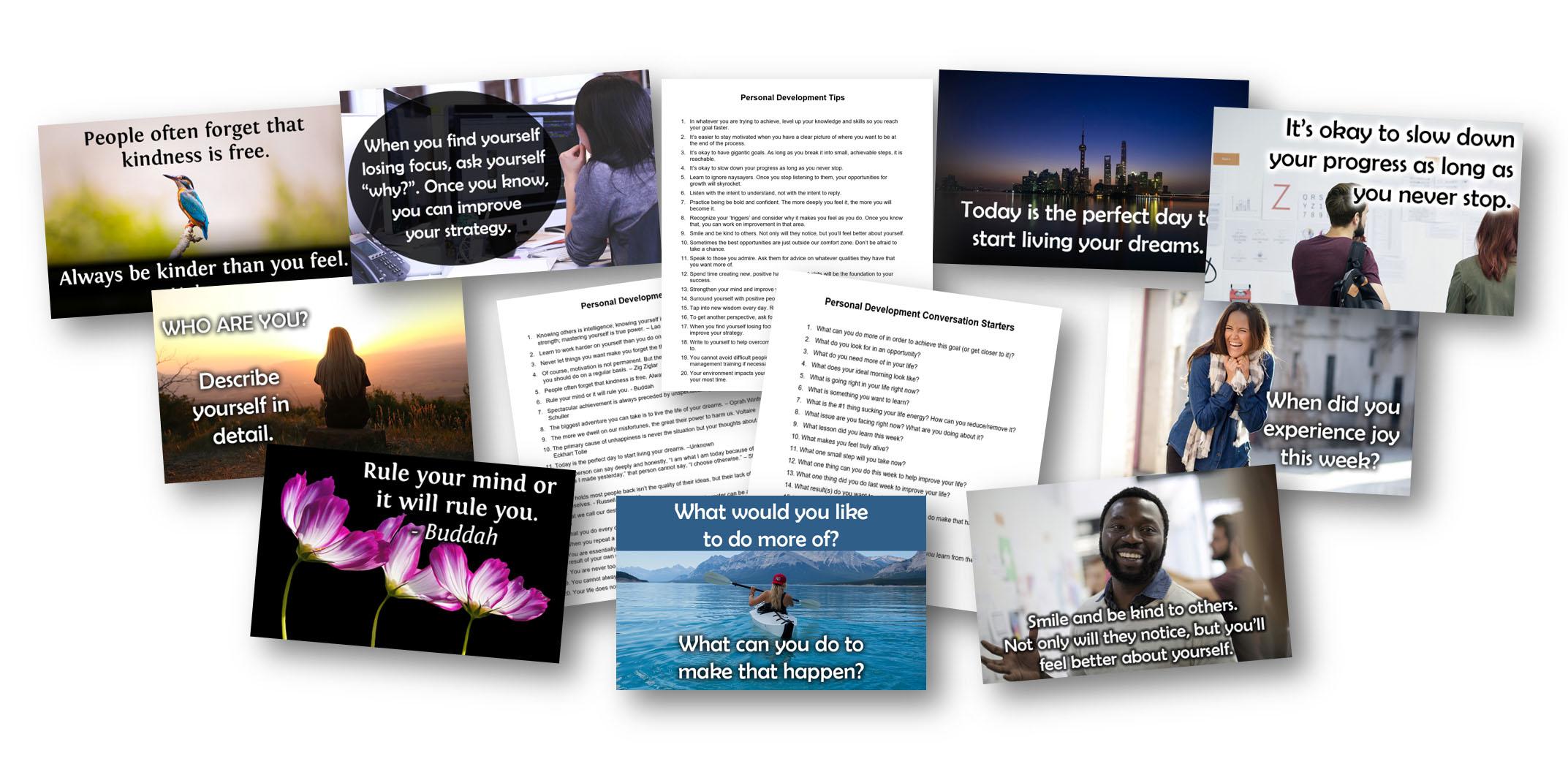 Social Media Personal Development Content