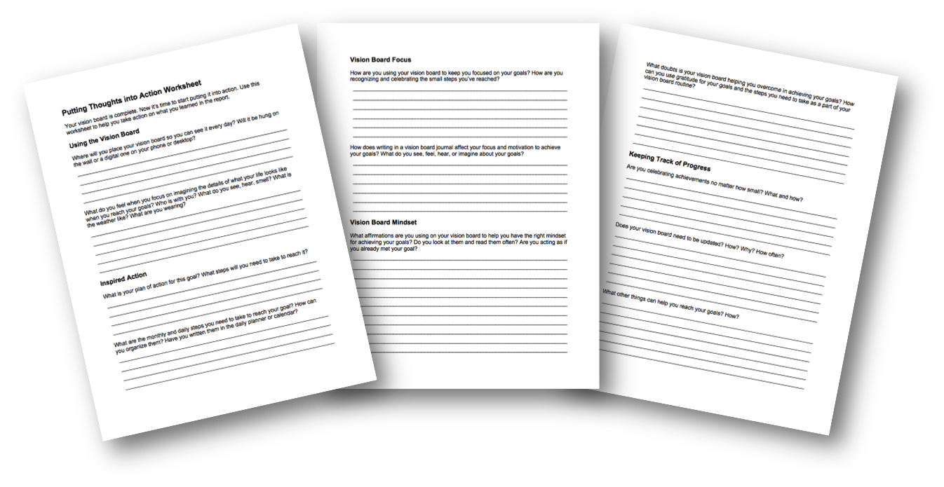 Putting Thoughts into Action Worksheet