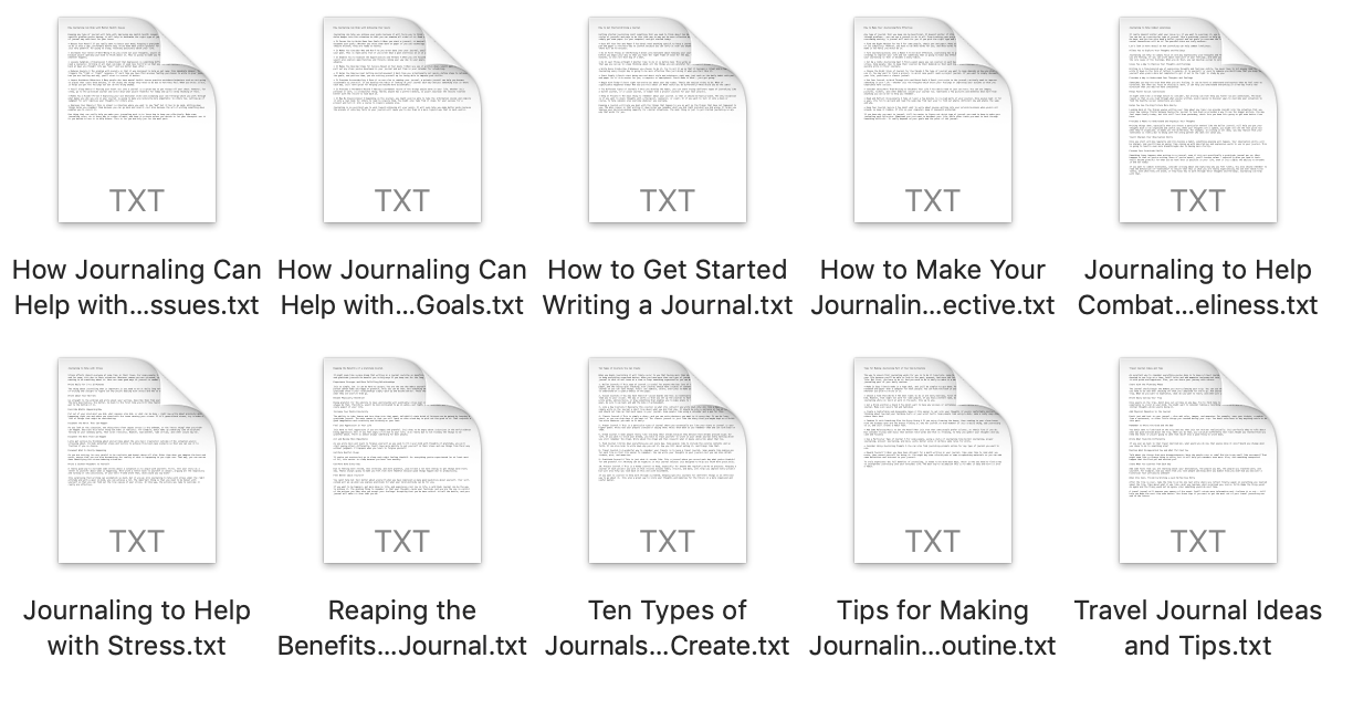Free 10-Pack of Journaling Articles