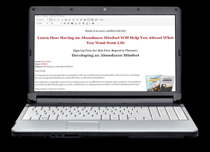 Developing an Abundance Mindset Notebook Optin