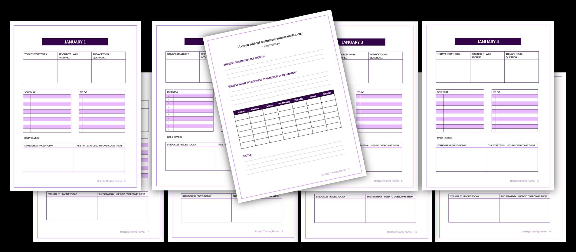 Strategic Thinking Planner image 2