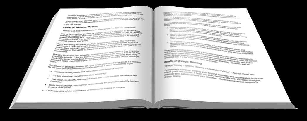 Strategic Thinking Report open book