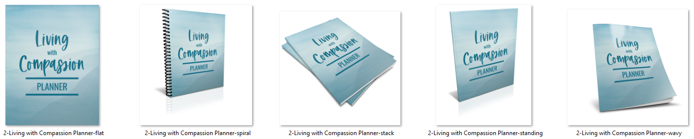 living with compassion planner images