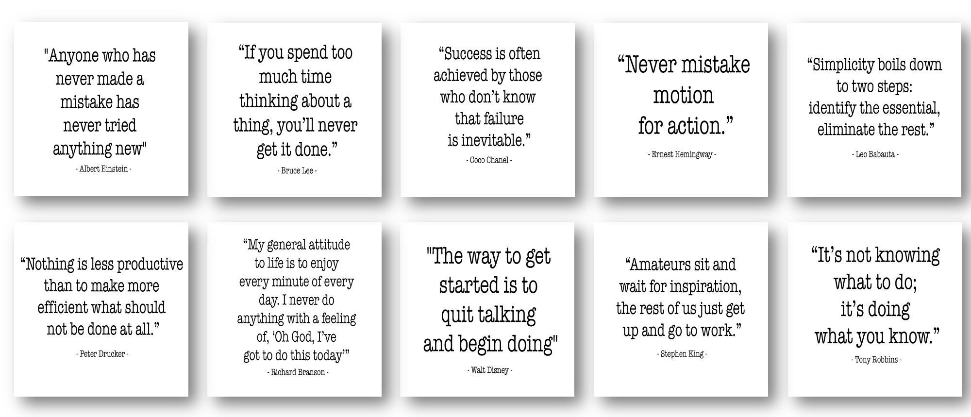 Free PLR: Productivity Quotes Graphics