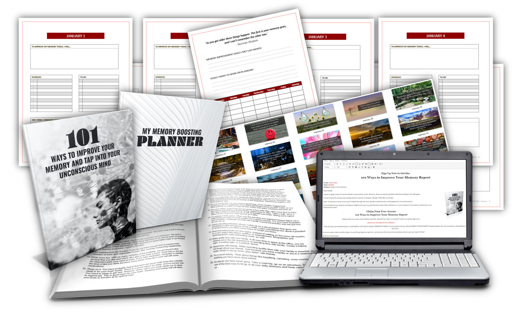 Improve Your Memory Planner Pack