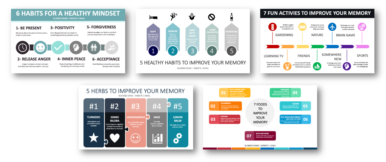 Memory and Mindset Infographics