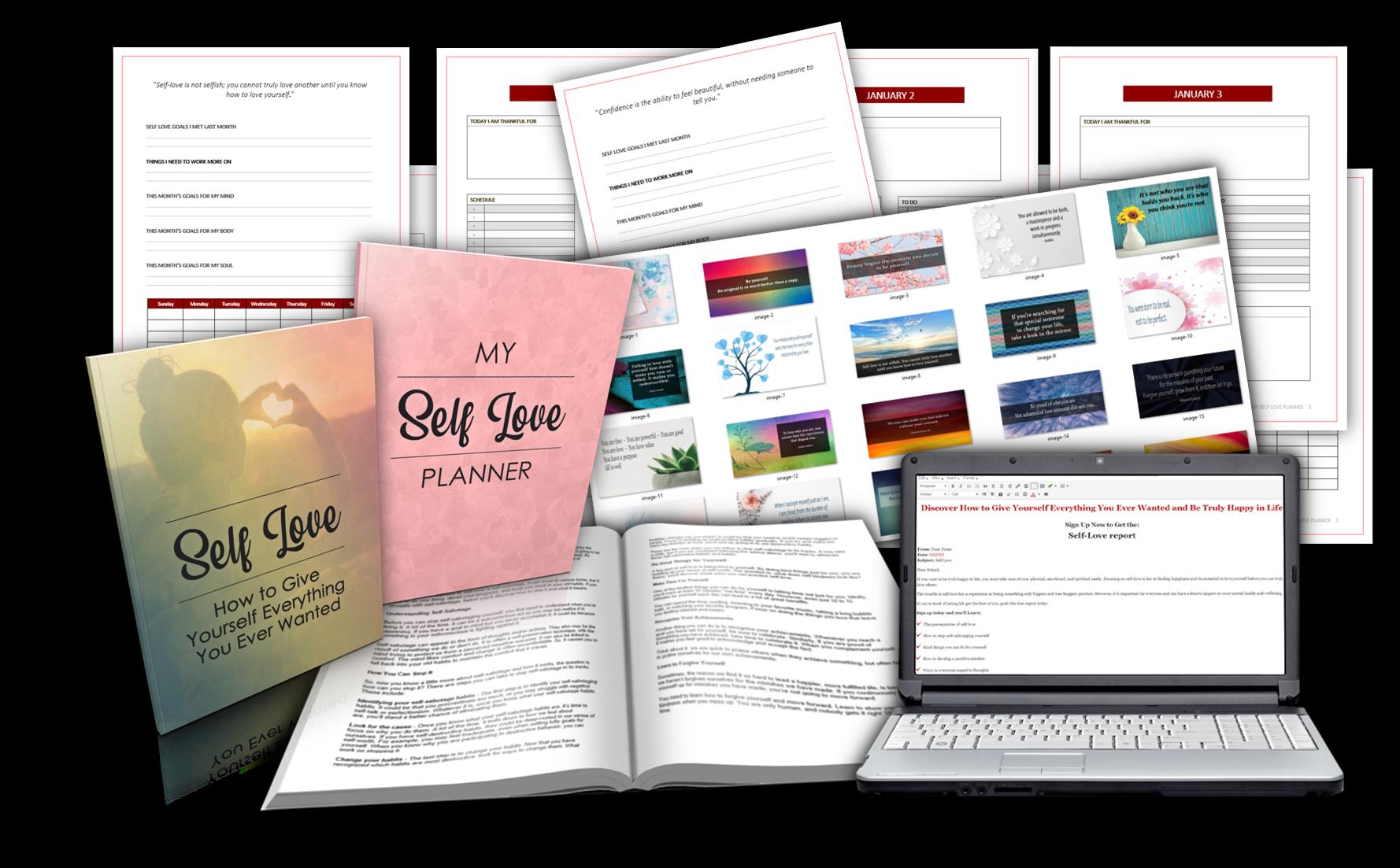 self love report planner pack