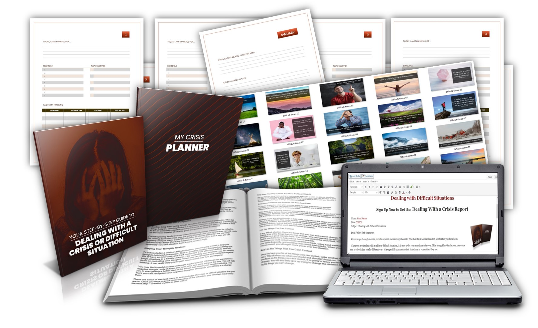 Dealing with a Crisis PLR Planner Pack