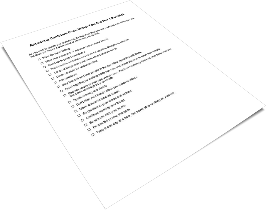 Appearing Confident PLR Checklist